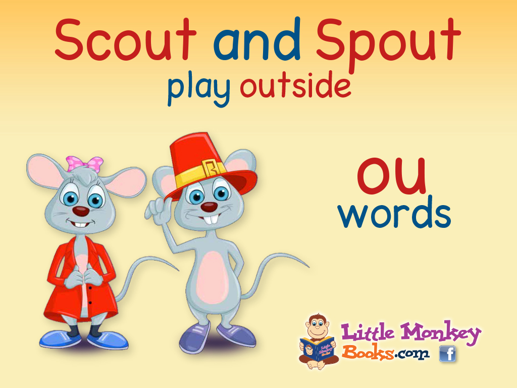 Scout and Spout play outside